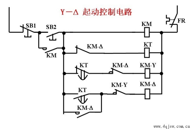 电动机星三角启动电路图集_星三角启动原理图_星三角启动接线图